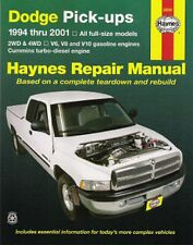 1994-2001 Dodge RAM 2/4WD V6/V8/10/Diesel Repair Manual 2000 1999 1998 1997 4293