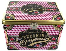 Cotton Candy Wu & Wu Storage Tin Freakin' Gorgeous Beauty Chest Box Fiona Hewitt