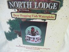 MR CHRISTMAS NORTH LODGE BEAR WATER SNOW GLOBE  MUSICAL