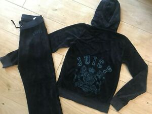 GIRLS Blue VELOUR JUICY COUTURE TRACKSUIT (age12-13)