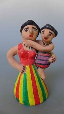 "Vintage Mexican Chiapas ceramic folk art mother & child 4 3/8"" tall"