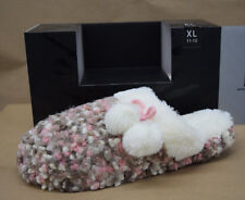INC International Concepts Slippers XL 11-12 Soft Pink Brown Faux Fur