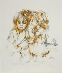 Hyacinthe Kuller Baron, The Secret, Lithograph, Signed in Pencil