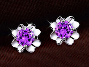 FASHIONS FOREVER® 925 Sterling Silver Lucky Clover Cubic Zircon Stud Earrings