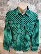 G-Star Men's  Shirt size L green blue color plaid