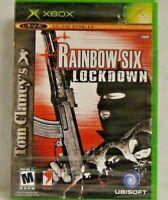 Tom Clancy's Rainbow Six: Lockdown (Microsoft Xbox, 2005) New Sealed !