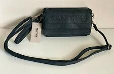 KENNETH COLE REACTION GIGI BLACK CONVERTIBLE WALLET CROSSBODY SLING BAG PURSE