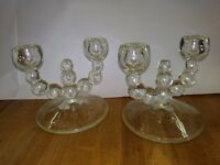 vintage glass ball candle holders