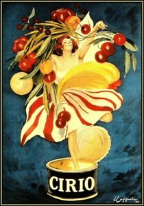 Cirio Foods Vintage Italian Advertising LARGE METAL TIN SIGN POSTER WALL PLAQUE