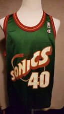 very rare Seattle Supersonics #40 Shawn Kemp Champion Jersey Size: 48 or L/XL