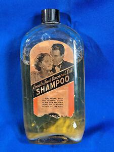 Antique Advertising Barber Vanity Bottle Emulsified Cocoanut Oil Shampoo Photo