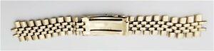 "14K Gold Men Rolex Wrist Watch 17mm Clasp 19mm Lug 6.5"" Band No Endlinks #87-10"