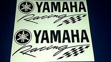 2 x Yamaha Racing R1 R6 R125 Fazer  Motorcycle Race Vinyl Sticker Decals