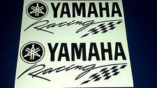 2 x Yamaha Racing R1 R6 R125 Fazer  Motorcycle Race Vinyl Sticker Decals
