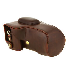 Coffee Retro Vintage Leather Camera case bag cover for Canon100D Digital Camera