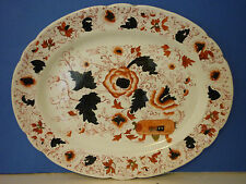 Royal Derby Old Large Orange, Red & Black Platter
