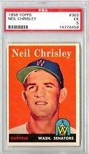 1958 Topps Neil Chrisley #303 PSA 5 HS41