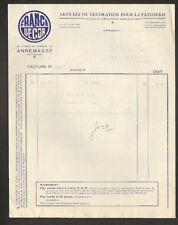 """ANNEMASSE (74) ARTICLES de DECORATION pour PATISSERIE """"FRANCE DECOR"""" en 1952"""