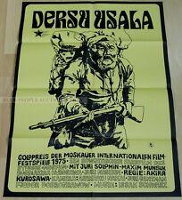 JAPAN AKIRA KUROSAWA - DERSU UZALA * rare EAST GERMAN ART POSTER!