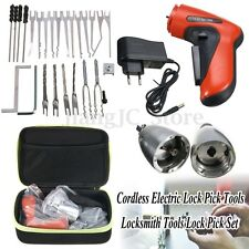Cordless Electric Lock Pick Tools Locksmith Tools Lock Pick Set Lock Openner New