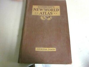 HAMMOND'S NEW WORLD ATLAS 1936 DOUBLEDAY,DORAN