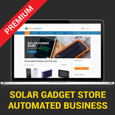 Solar Devices Shop - Automated Business Website For Sale