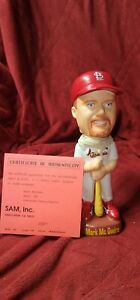 SAMs Mark McGwire St Louis Cardinals Home White Jersey Bobblehead Numbered MLB