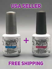 USA Seller - Gelish Foundation & Top Coat Combo - UV Soak Off Gel Nail Polish