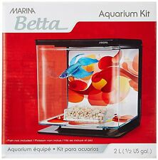 Tetra Plastic Fish Tank Small Aquarium Pet Feed Box Starter Kit Set Betta