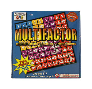 Learning Advantage Multifactor Math Game - Grades 3 To 7 - New