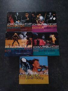 JOHNNY HALLYDAY INTEGRALE TOUT PUBLIC 5 COFFRETS 17 CD CODE BARRE SUR LE DESSUS