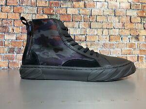Karl Lagerfeld Paris Men's Nubuck/Leather High-top Sneakers Size 13 Men's New