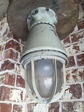 "Vintage Explosion Proof Light Pendant, Industrial, Appleton, Steampunk, 15"" tall"