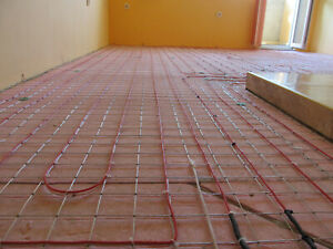 Floor Heating cable system 90-110 sq.ft.(9-11 sq m) 120/240V Wi-fi Smart control