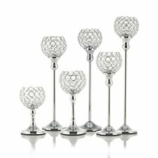 Crystal Candle Tealight Holders Metal Centerpieces Candlesticks Home Decoration