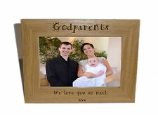 Godparents Wooden Photo Frame 7x5- Personalise this frame - Free Engraving