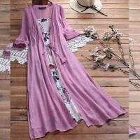 Party Womens Casual Long beach summer Dress Dresses Maxi Floral V Neck sundress