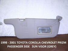 TOYOTA COROLLA / CHEVROLET PRIZM 1998-2002 PASSENGER SIDE SUN VISOR ( GREY )