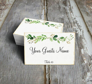 RUSTIC EUCALYPTUS HERBS SWAG WEDDING PLACE CARDS, TAGS or ESCORT CARDS #399