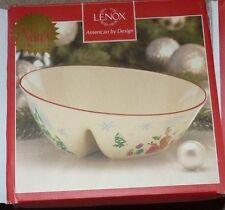 New Lenox Inspirations Illustrations Divided Angle Bowl Sleigh Christmas New Nib