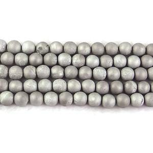 "wholesale natural matte gemstone spacer beads 4mm 6mm 8mm 10mm strand 15.5"" DIY"