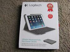 Brand New Logitech Ultrathin Keyboard Folio for iPad Mini 1/2/3- Grey 920-006030