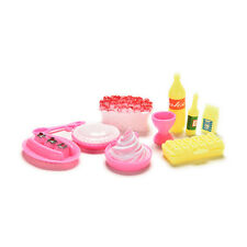10 Pcs/set Birthday Cake Accessories for Barbies Kids Girls Play House Toys H&T