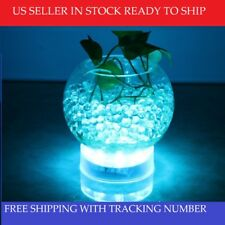4 Inch Round LED Lightbase Battery Operated Centerpiece Light Base White