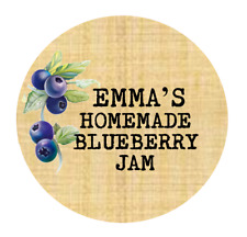 Personalised Blueberry Jam Labels Custom  Printed Sticky Labels Jam Gin Vodka