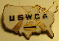 USWCA Womens Curling Antique Curling Club Pin