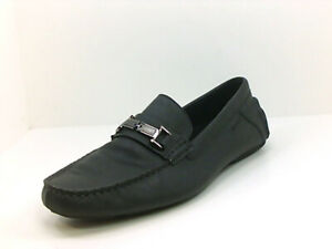 Calvin Klein Mens X2LC Moccasins, Black, Size 13.0 KUO4