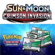 10 carmesí Invasion códigos Pokemon Sun & Luna Trading Card Game booster en línea por correo electrónico rápido!