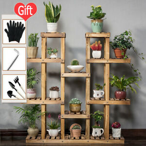 6 Tiers Flower Pot Rack Plant Stand Flower Pot Display With Wheels Out/Indoor