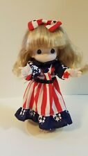 "RARE Precious Moments Figurine Girl Doll 7"" American USA w/ Stand Up"